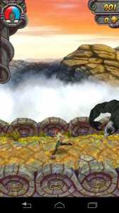 Running from monkey on Temple Run 2